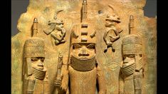 Benin plaque: the oba with Europeans