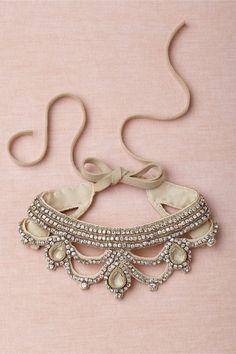 Queen Consort Collar in Shoes & Accessories Jewelry at BHLDN Diy Jewelry, Jewelry Box, Jewelry Accessories, Vintage Jewelry, Jewelry Making, Jewellery, Neck Accessories, Bridal Jewelry, Vintage Necklaces