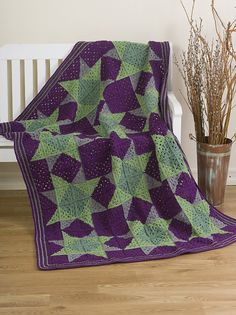 Ravelry: Crocheted Quilt pattern by Darla J. FantonI never thought I would ever make an Afghan that looked like a quilt pattern. I might give this one a try.