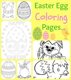 Looking for something fun to do for Easter for your kids? Then check out these printable Easter Egg Coloring Pages!
