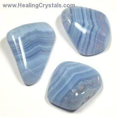 Blue Lace Agate is great for activating and healing the Throat Chakra and for balancing the brain. This stone enhances verbal communication and expression, helping one to be more discerning in their word choices. Put a piece of tumbled Blue Lace Agate in your pocket when speaking in public to help clear away any jitters and promote clarity. This calming stone can help those who may be feeling depressed or worried, and is believed to bring peacefulness. balancedwomensblog.com