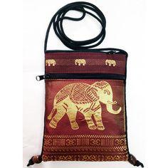 Small Bag Wallet Coin Purse Elephant Clothes Color Brown via Polyvore
