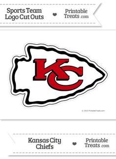 Large Kansas City Chiefs Logo Cut Out from PrintableTreats.com