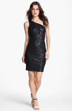 Erin By Fetherston One Shoulder Sheath Dress