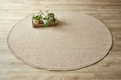 Super Natural Circle Taupe: Water-resistant, durable poly-propylene woven flatweave (2.3m diameter). Add tex...