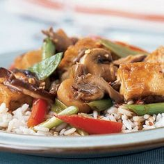 Triple-Mushroom Stir-Fry with Tofu by Cooking Light