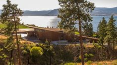 Olson Kundig Architects has created an angled, metal-clad building that steps down a hillside for a Canadian winemaker.