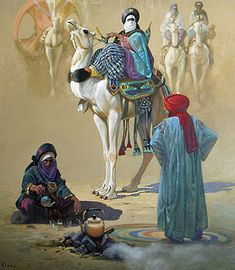 """Algerian painter Hocine Ziani was born in Algeria, lives and works in France. He is an autodidactartist. Professional painter since 1978-1993 in Algeria, 1994-2009 in France. Founding member of the Central Army Museum, Algiers. Affiliated to the """"Maison des Artistes"""", Paris. Member of the ADAGP, Paris. Member of the International Fine arts Academy, Quebec."""