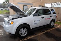 Wheeler Army Airfield's smart-charging micro grid, or SCMG system, powers up to four electric vehicles, like the one pictured here. It also has the ability to provide instant backup power to support three buildings for 72 hours, including the U.S. Army Garrison-Hawaii headquarters.
