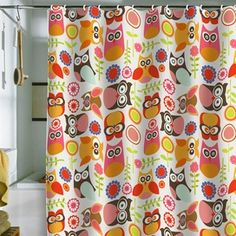 Cute shower curtain.  Would use in the classroom to cover up storage shelves up high