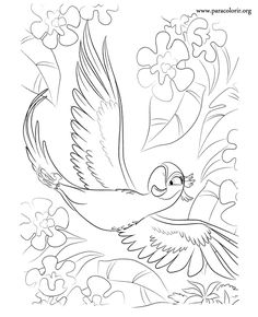 Rio the Movie Coloring Pages | have fun coloring this picture of jewel from rio the movie