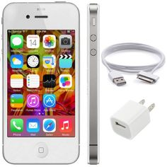 Apple Iphone 4 8Gb, White, For Straight Talk, No Contract, 2015 Amazon Top Rated No-Contract Cell Phones #Wireless