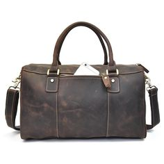 64abf0dc6c2f Overview: Design  Genuine Leather Mens Cool Weekender Bag Travel Bag Duffle  Bags Overnight Bag
