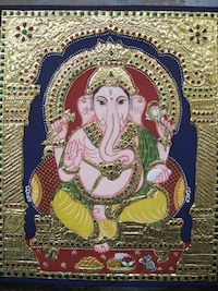 Painting | Tanjore | Ganesha Tanjore Painting | CardsNCrafts