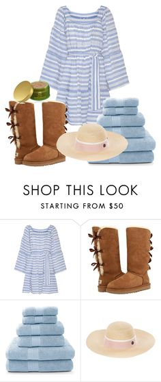 """Outside spa bath"" by rubydo2 ❤ liked on Polyvore featuring Lisa Marie Fernandez, UGG, Maison Michel and Tata Harper"