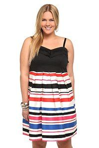 Striped Color Block Party Dress | Not a stripe fan but I like this one and it looks comfy