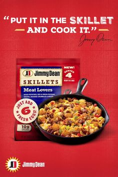 Fix up a flavorful breakfast fit for a family of 4 in just 15 minutes. All you need are 6 eggs and a skillet. Find Jimmy Dean Skillets at your neighborhood Hy-Vee or Shop online from Hy-Vee Aisles Online. Breakfast Skillet, Jimmy Dean, Diced Potatoes, Homemade Breakfast, Meat Lovers, Stuffed Green Peppers, Red Green, Sausage, Bacon