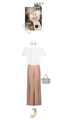 """""""News."""" by j-mgreene ❤ liked on Polyvore featuring Christian Louboutin, Cushnie Et Ochs, Global Views, Valentino, white, beige and gray"""