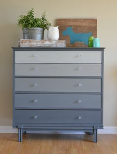 Ombre Dresser Idea Dont Tons Of Colors Just Lighten With White