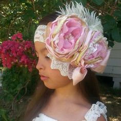 Shop for on Etsy, the place to express your creativity through the buying and selling of handmade and vintage goods. Vintage Headbands, Baby Girl Headbands, Girls Boutique, Baby Boutique, Petti Romper, Rose Headband, Baby Girl Fashion, Vintage Lace, Dusty Rose