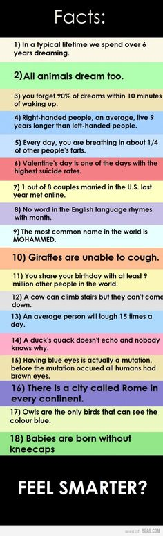 Some Facts     I love random facts!!