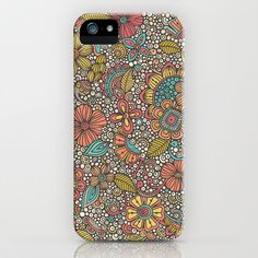 Doodles Garden iPhone & iPod Case by Valentina Harper - $35.00