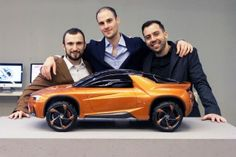 The designers of the Seat Liebre concept: Jakub Sulikowski (interior), Nikola Peychich and Rafael Corazza (exterior)
