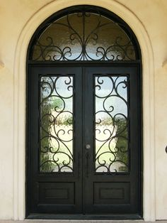 wrought iron entry door double square doors sidelight transom wrought