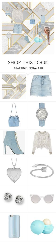 """Denimm"" by chanalieberman on Polyvore featuring Yves Saint Laurent, Michael Kors, GUESS, Barbara Bui, See by Chloé, Fremada, FOSSIL, Kosha, Isaac Mizrahi and River Island"