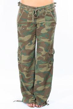 DaNang Cargo Pant in Army Camo   Gypsy 05, LaROK, Lauren Moshi, Matt Bersnon