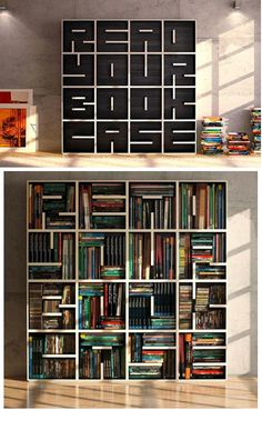 "{""Read Your Book Case"" Book case} This is the coolest"