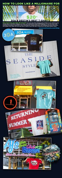 Everyone has their favorite beach Ts.  These are ours. Check out designs from 30A, Seaside, Yolo, The Red Bar, & The Destin Fishing Rodeo! Destin Fishing, Red Bar, Find People, The Dunes, Paddle Boarding, Yolo, Cool T Shirts, Seaside, Coastal
