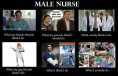 Male nurses - what they think I do