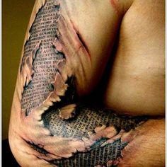 Ripped Skin Tattoos | Inked Magazine