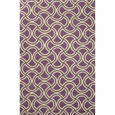 Jaipur Rugs IndoorOutdoor Geometric Pattern Purple Polypropylene Area Rug BA26 (Rectangle)