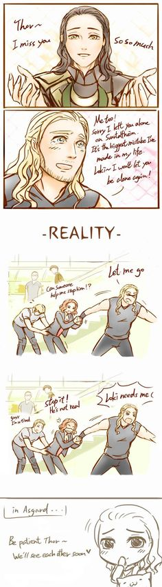 Thorki-Expectation v.s Reality by AviHistten.deviantart.com on @DeviantArt