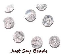 200pcs x 4mm Clear Round Glass Crackle Beads Perfect Spacer Beads – Jewellery Making (Ref:13A6) by Just Say Beads