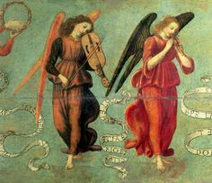 Francesco Botticini - Angels Playing the Fiddle and Pipe