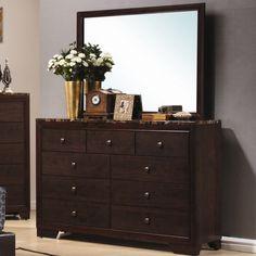 Wildon Home ® Annetta South 9 Drawer Dresser with Mirror & Reviews   Wayfair