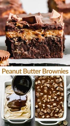 Peanut Butter Frosting, Peanut Butter Brownies, Creamy Peanut Butter, Chocolate Peanut Butter, Blondie Brownies, No Bake Brownies, Desserts With Biscuits, Gluten Free Deserts, Cake Bars