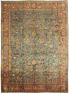 Antique Kashan Persian Rug 43627 Detail/Large View - By Nazmiyal
