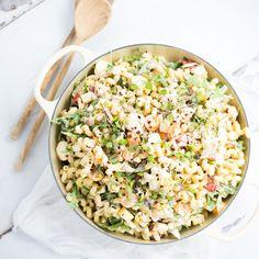 Summer Vegetable Pasta Salad Recipe Salads with yoghurt, mayonnaise ...