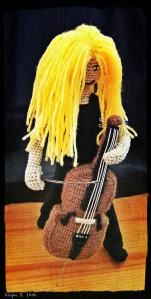 Crochet craft by Virpi Siipola. Apocalyptica, Eicca Toppinen.