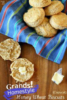 Pillsbury Grands Homestyle Honey Wheat Biscuits {Copycat} Recipe | LauraFuentes.com