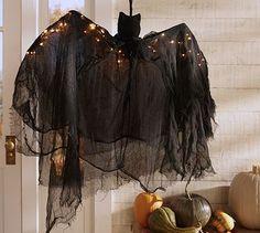 Lit Burlap Bat #potterybarn
