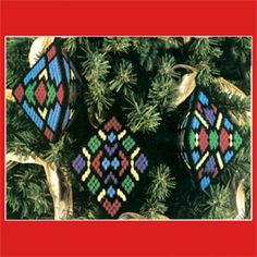 Stained Glass Ornaments Plastic Canvas ePattern