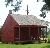 The third cabin from Allendale c.1890's shows life as it would have been during the Civil Rights era.