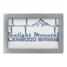Sunlight Mountain Resort  -  Glenwood Springs - Co Belt Buckle - accessories accessory gift idea stylish unique custom