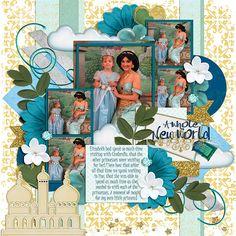 Kits: Princess of Agrabah (Kellybell Designs), Princess of Agrabah Add-On (Kellybell Designs), Princess of Agrabah Word Art (Kellybell Designs) Template: AK Designs