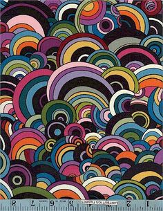 Rivoli Bubbles, Multi/Black, Alexander Henry -fabric